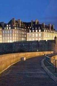 st malo old town brittany dark skies