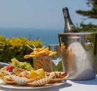 al fresco dining at le gouffre restaurant in guernsey channel islands