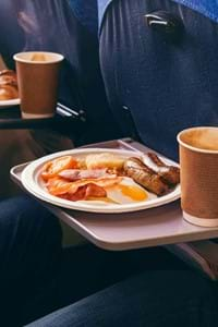 full english breakfast and coffee onboard condor ferries