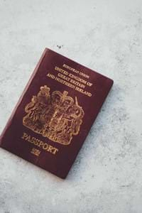 passport on a white background