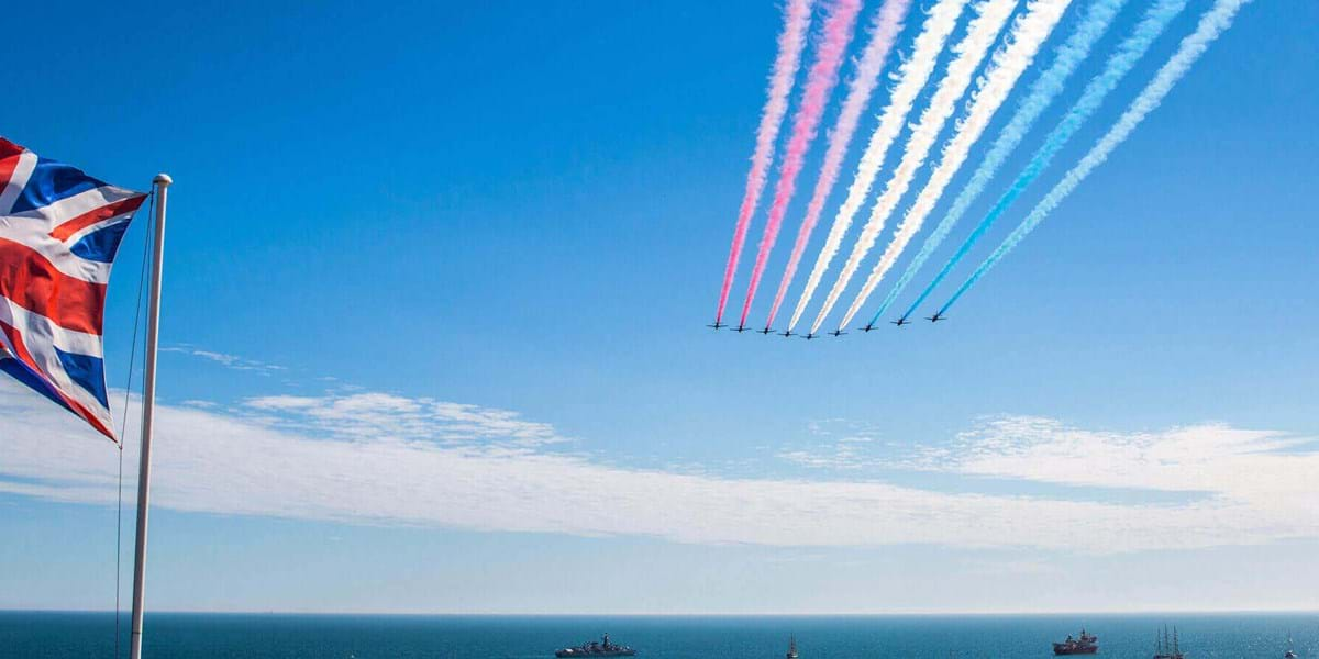 Enjoy the Red Arrows at Bournemouth Air Show