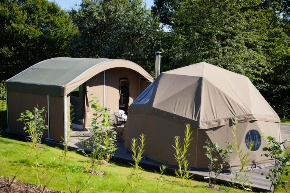 glamping at durrell wildlife camp jersey channel islands