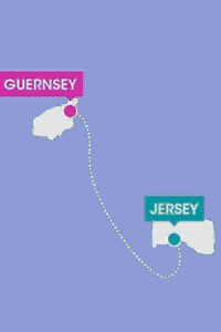 route map of jersey to guernsey by ferry