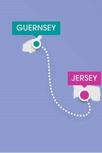 route map of guernsey to jersey by ferry