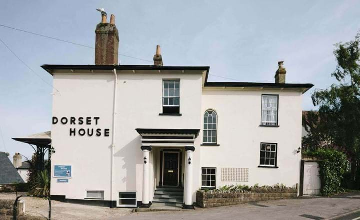 white building of Dorset House Boutique b&b uk