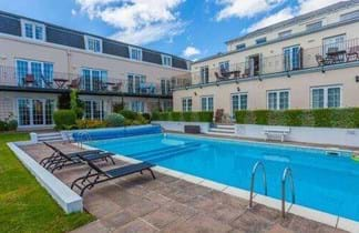 outdoor swimming pool at the albany apartments guernsey