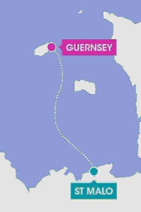 route map of st malo to guernsey by ferry