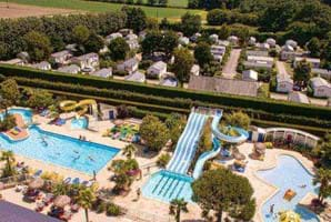 outdoor swimming pools at Le P'tit Bois Brittany