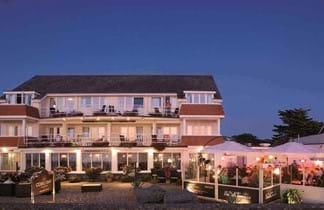 cobo bay hotel light up in dark guernsey channel islands